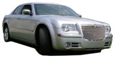 Hire a matching silver Chrysler 300 saloon for your wedding or civil ceremony