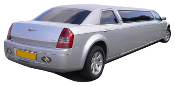 Chauffeur driven silver Chrysler 300 stretched limousine - School Proms, Birthdays, Anniversaries in Romford and beyond.